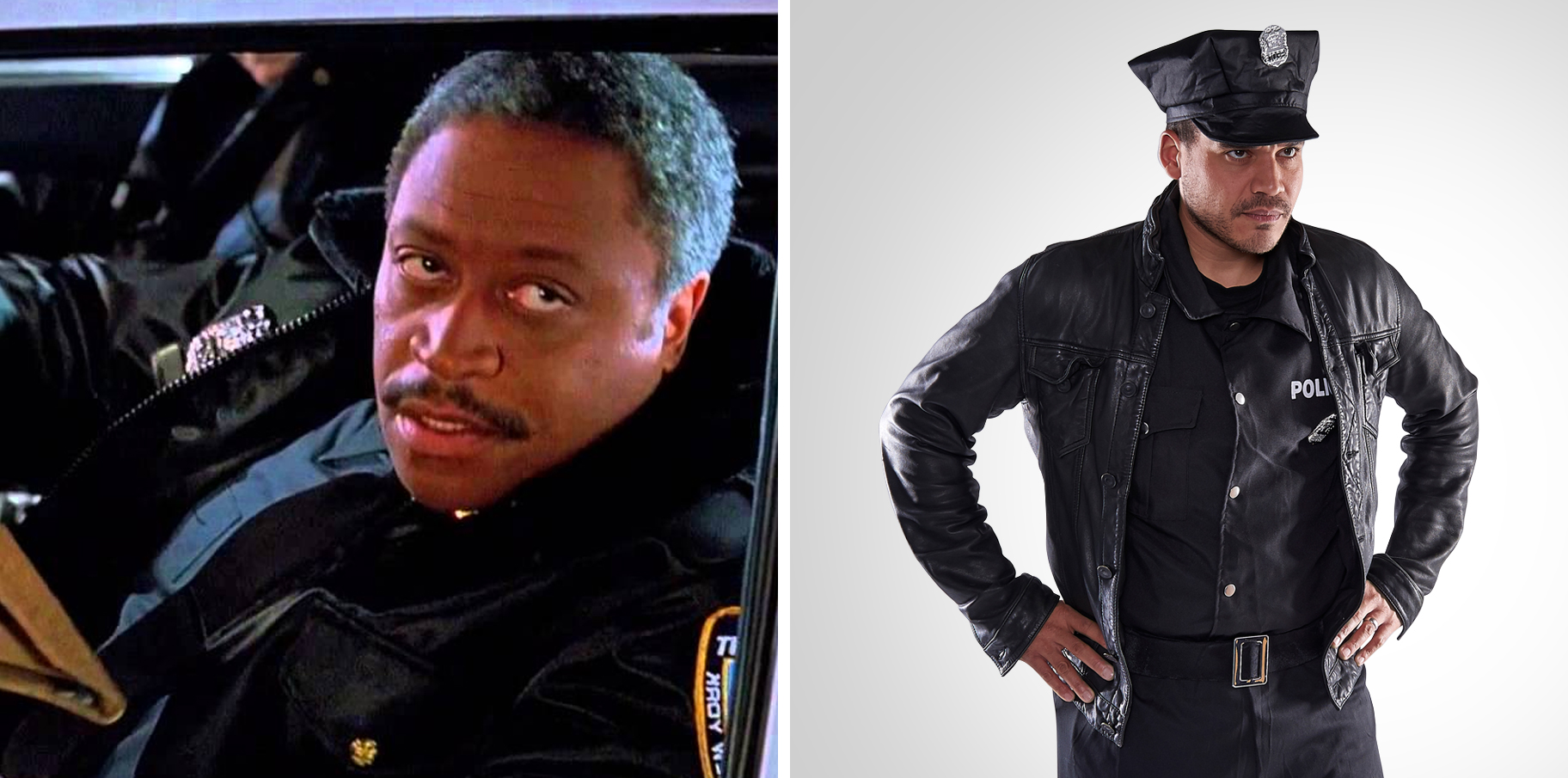 Mike as the police officer