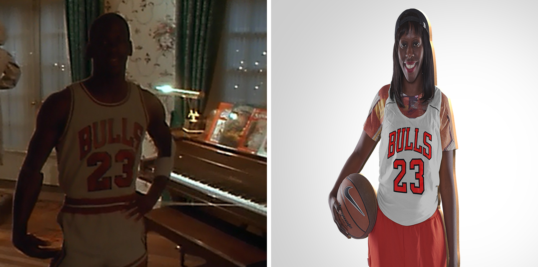 Sophie as a Basketball Star cardboard cut-out