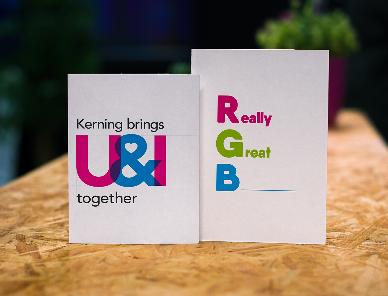 valentine's day card - kerning puts U and I together