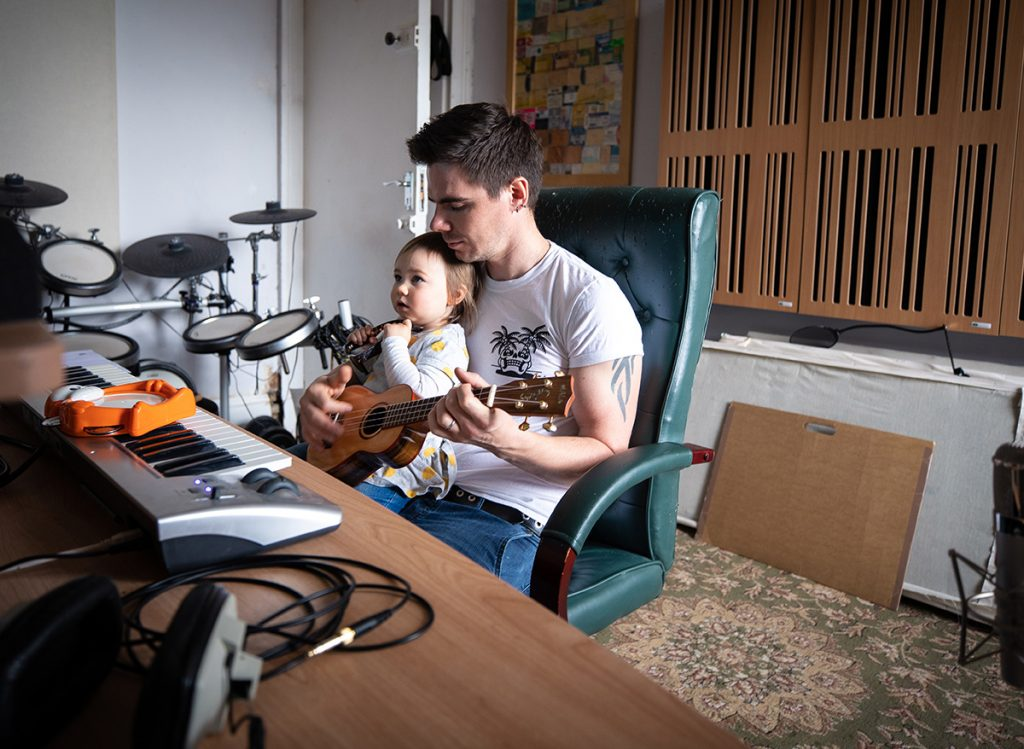 james from sweet wave audio composing music