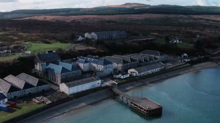 Aerial photo of Bunnahabhain Distillery