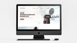 Bunnahabhain Ecommerce Website Design shown on a desktop computer