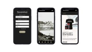 Bunnahabhain Ecommerce Website Design shown on mobile