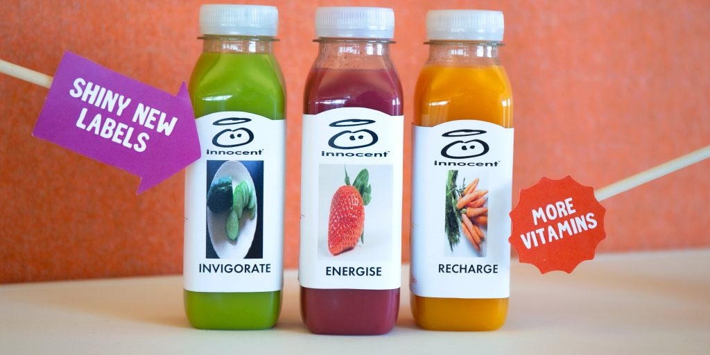 innocent smoothies re-re-re-rebrand bottles