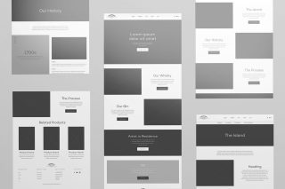Tobermory Website Design Wireframes