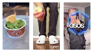 Chipotle guacamole, someone wearing Crocs and ASOS' full-works 'Ay Sauce' TikTok challenge