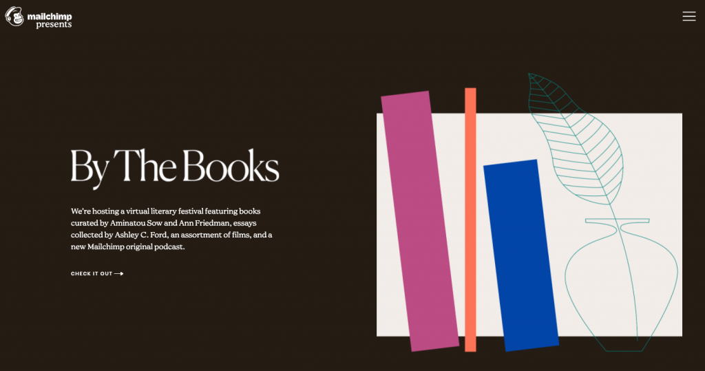 Books on brown background