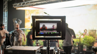 photo of monitor on virtual production stage